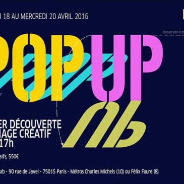 Formation pop-up par Michel Ferrier, intuit lab Paris du 18 au 20 avril 2016