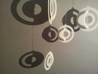 Boules de Noël 2016, motifs planètes, papier blanc, 3 tailles, zoom