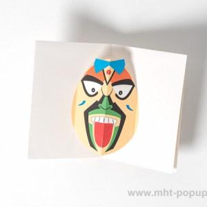Carte Masque Vietnam, Tire-la-langue, dessus