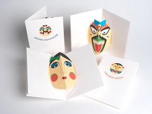 Carte Masques du Vietnam, vue des différents modèles