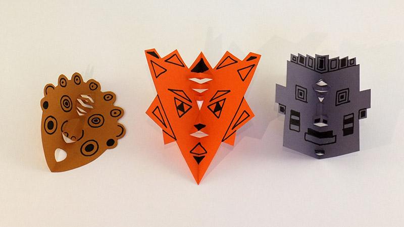 Atelier pop-up autour du masque en kirigami