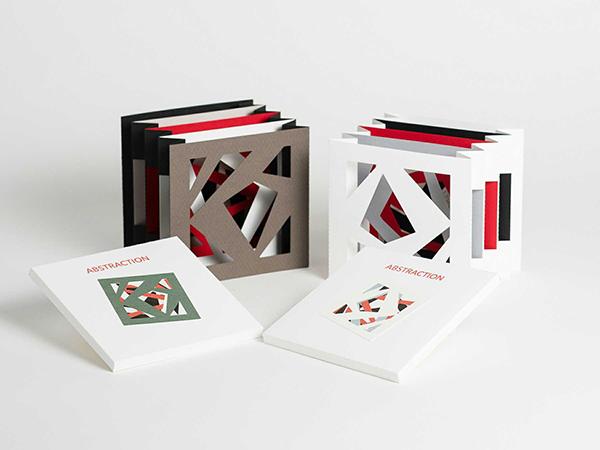 Livres d'artiste tunnel, modèle Abstraction, vue d'ensemble
