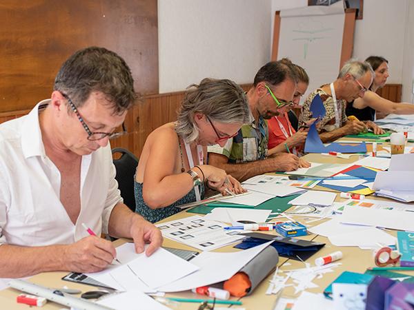 Atelier pop-up adulte autour de la technique du plan levé. Bigre rencontre à Sète, août 2018