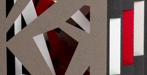 Livre tunnel Abstraction Noir, détail