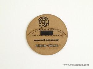 Magnets avec motifs gravés du patrimoine de Saint-Denis. Envers avec aimant