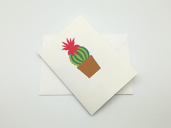 Carte pop-up Fleur de cactus, modèle orchidée rose, carte avec enveloppe
