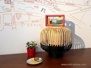 Diorama en couleur avec éléments du patrimoine de Saint-Denis mis en espace