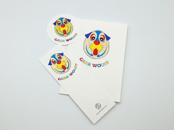Carte Masque du Vietnam modèle Grrr Wouff, Do It Yourself, ensemble des éléments coloriés