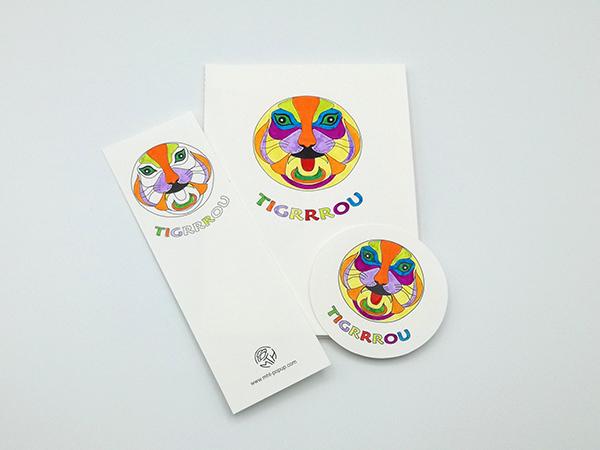 Carte Masque du Vietnam modèle Tigrrrou, Do It Yourself, ensemble des éléments coloriés