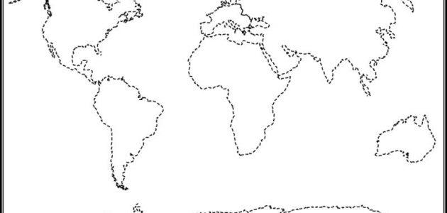 خريطة العالم صماء موقع محتويات