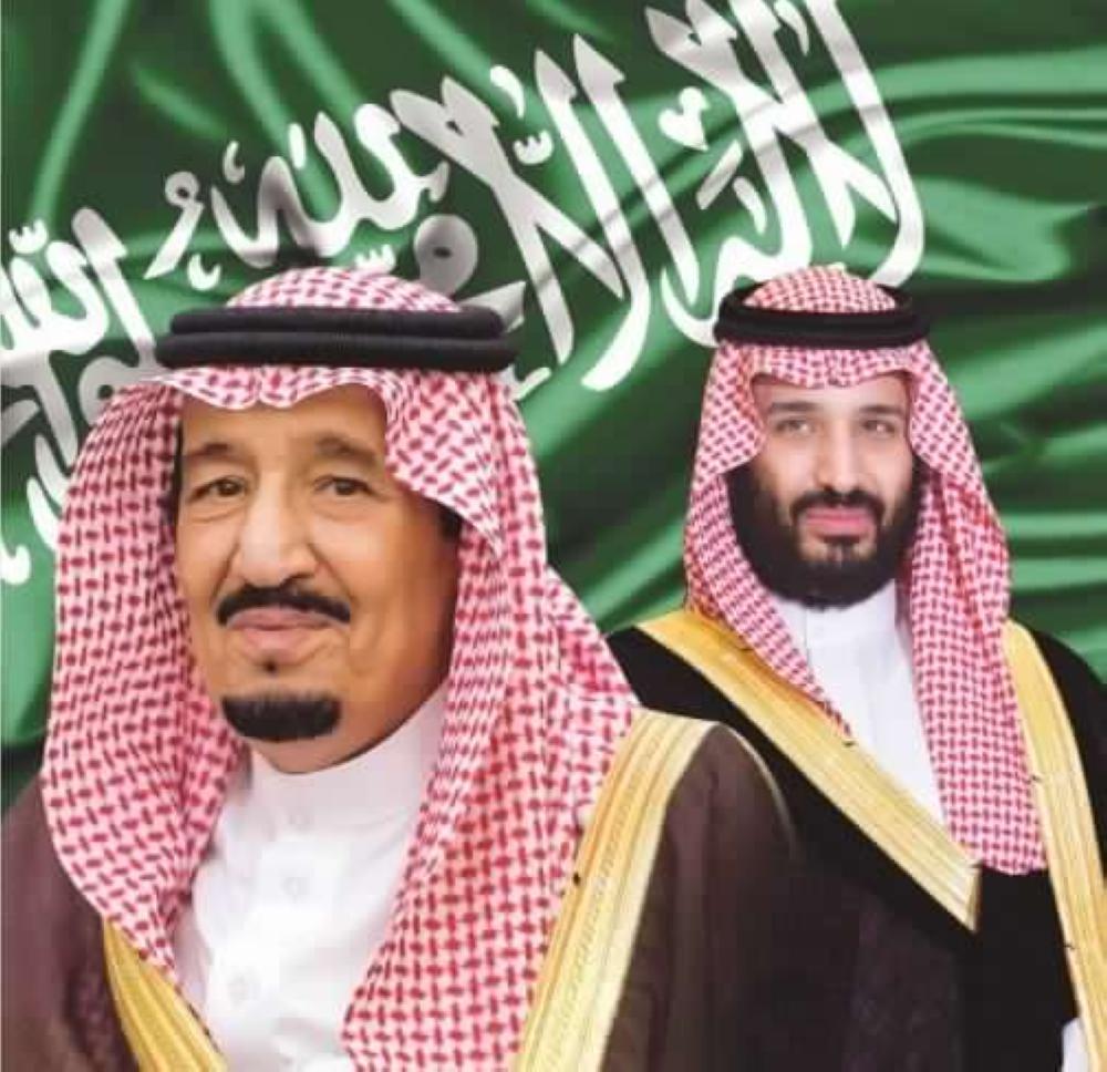 خلفيات الملك سلمان ومحمد بن سلمان تصميم