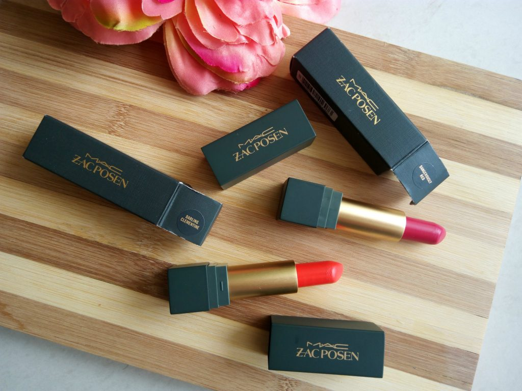 MAC Zac Posen Lipsticks Dangerously Red, Darling Clementine