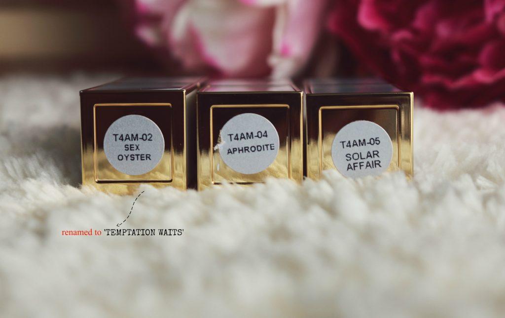 Tom Ford Soleil Collection Ultra-rich Lip Colors - Temptation Waits, Aphrodite, Solar Affair