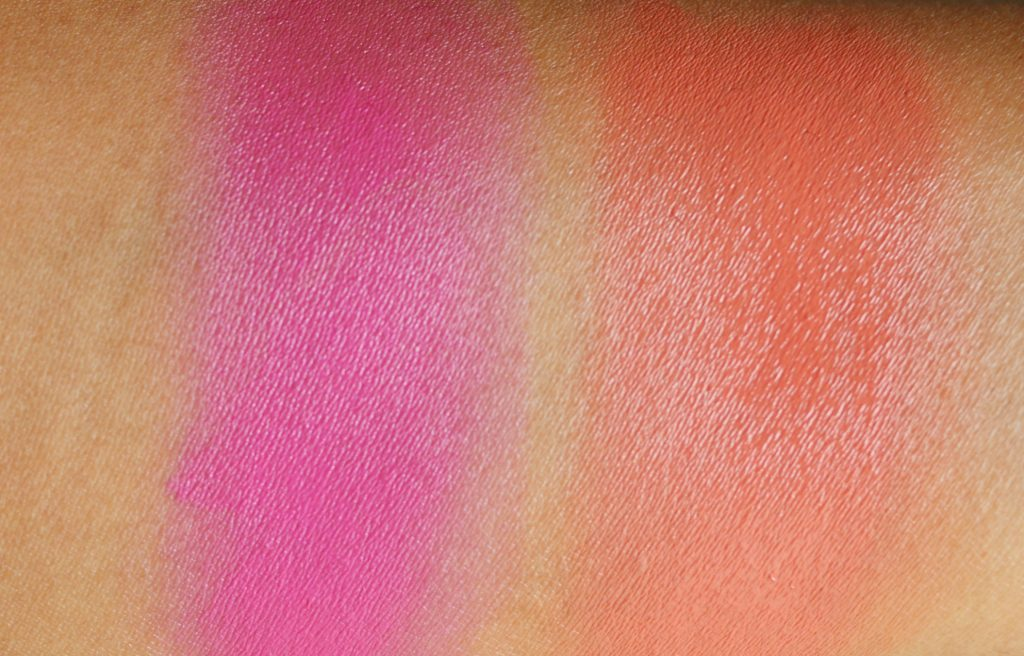 MAC x Chris Chang Cream Colour Bases - Rich Coral, Peony Pavillion Swatches
