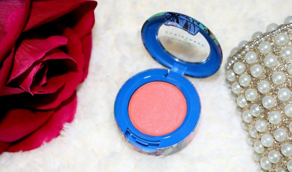 mac chris chang electric mandarin eye shadow review