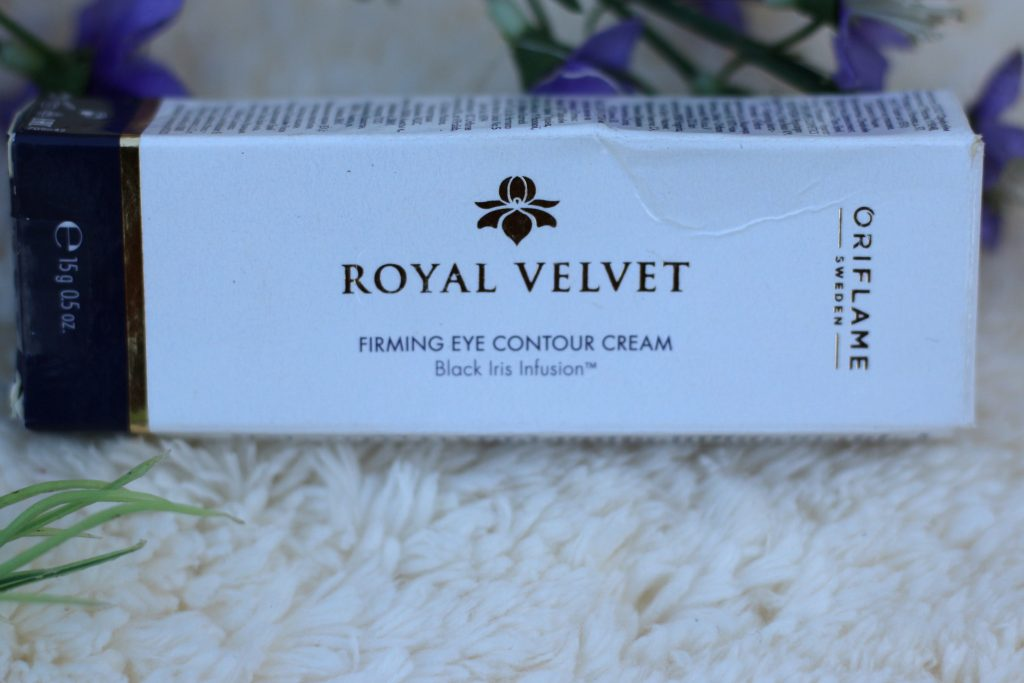 oriflame royal velvet firming eye contour cream review