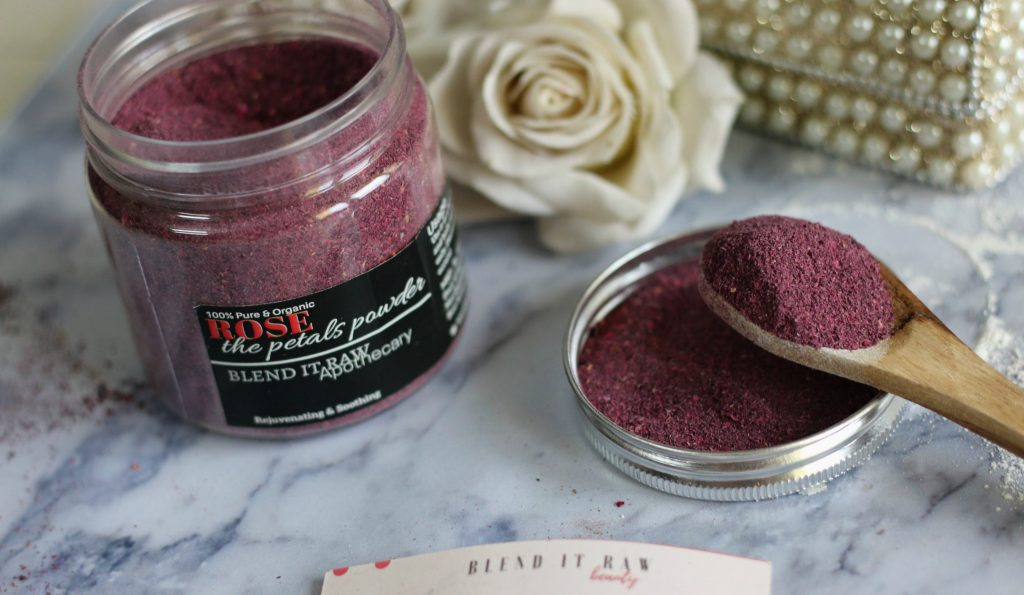 blend it raw apothecary ROSE The Petals Powder, blend it raw rose petal powder