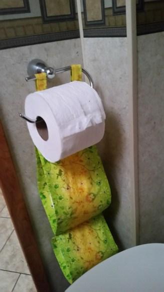 Winnie's toilet paper holder
