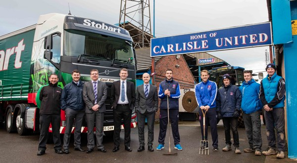 Carlisle United Football Club welcomes very special delivery from Eddie Stobart