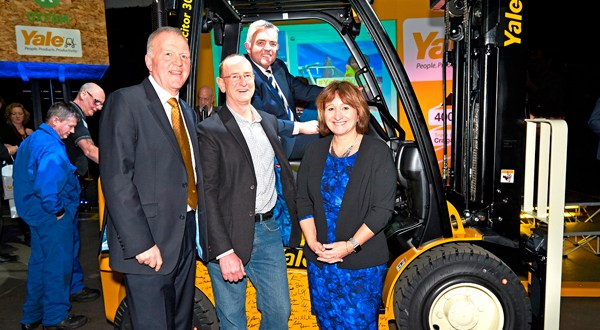 Yale Europe Materials Handling celebrates production of 400,000th truck at Craigavon plant with charity donation