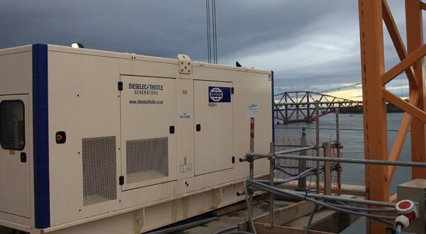 Dieselec Thistle Generators supplies forth Crossing Bridge constructors