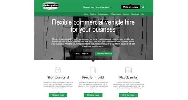 New Enterprise Flex-E-Rent website provides insight and advice to commercial fleet operators