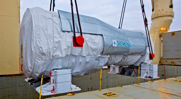 Historic call as Rickmers-Linie carries largest Siemens gas turbine to Turkey