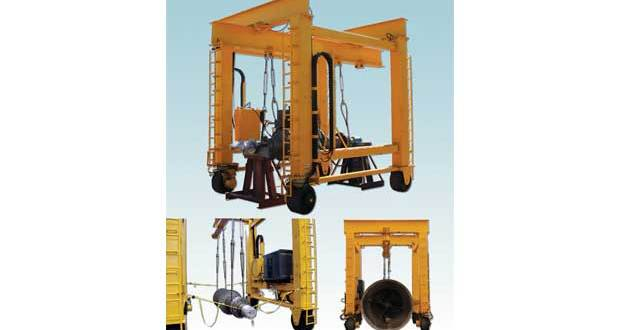 Air Technical Industries Tele-Mast crane learns to drive by GPS