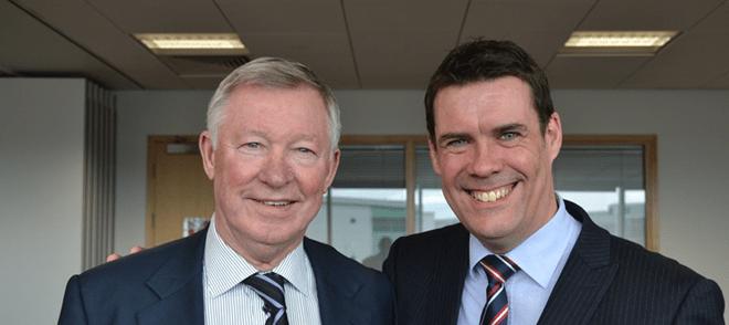 SCX apprentices score a hit with Sir Alex Ferguson