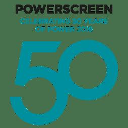 Powerscreen 50th Logo