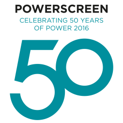 Powerscreen 50th Logo