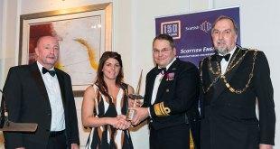 Forth Port's Harbour Master wins prestigious Scottish Engineering award Ashley Nicholson wins the Hammermen award for 2016