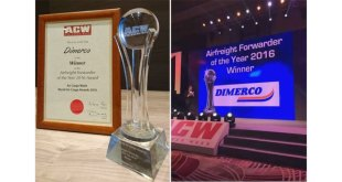 Dimerco scoops Airfreight Forwarder of the Year 2016 Award