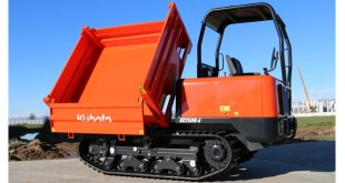 Kubota three-way tip tracked carrier
