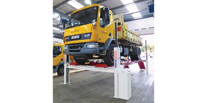 Stertil Koni vehicle lifts support multi vehicle fleet for Via East Midlands