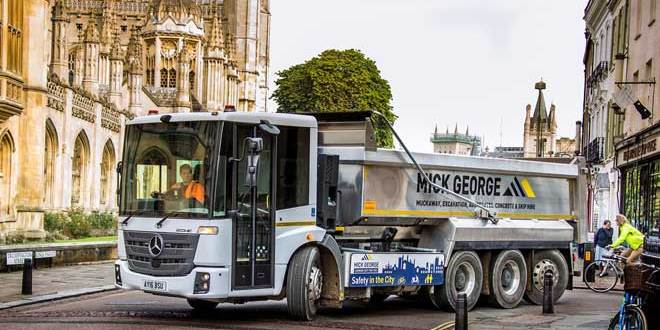 Mick George graduates to high visibility Mercedes-Benz Econic for Cambridge duties