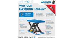 Advanced Handling Elevation new range of static scissor lift tables