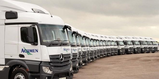 Acumen Distribution updates its fleet with Mercedes Benz Actros 1842LS