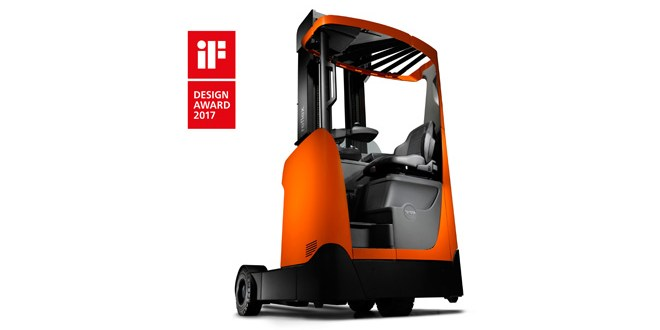 iF Design Award 2017 for redesigned Toyota Material Handling BT Reflex O-series Reach Truck