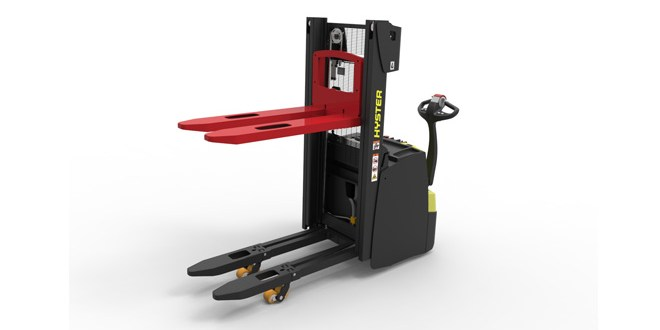 New Hyster stacker built for loading plates and double pallets