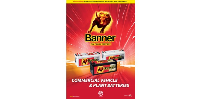 New Banner Batteries literature targets CV and Plant Sector
