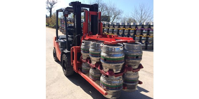 KAUP customised Keg Clamp Attachment improves productivity at Otters Brewery