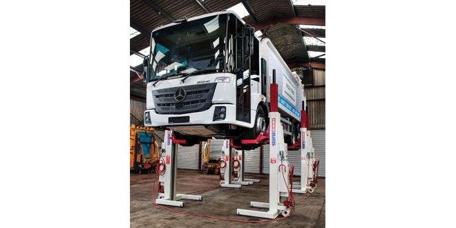 Stertil Koni mobile column lifts improve fleet maintenance forEuro Municipal