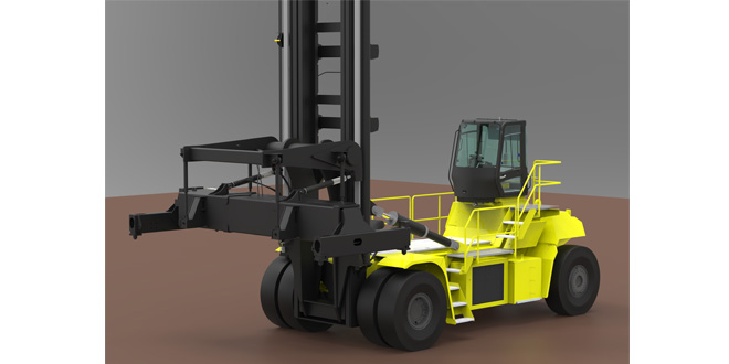 Hyster develops 48 tonne electric forklift truck