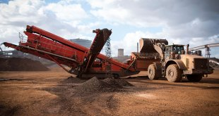 terex finlay Powerhouse performance persuasive for steel works