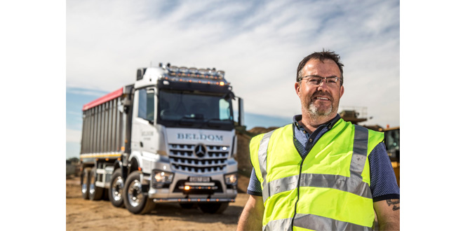Owner-driver Sam loves his made-to-measure Mercedes-Benz Arocs