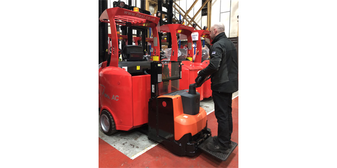 flexi narrow aisle Forklift battery management system brings cost and productivity benefits