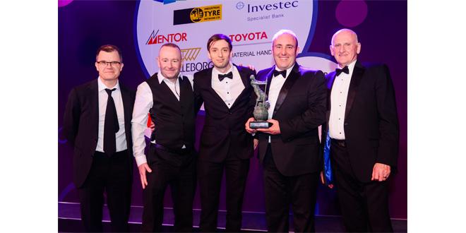 HIAB wins FLTA Environment Award with MOFFETT E-Series