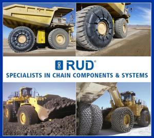 RUD Tyre Protection Chains Exhibiting at Hillhead 2018 Stand W6 1