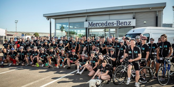 Mercedes-Benz Vans colleagues saddle up for charity